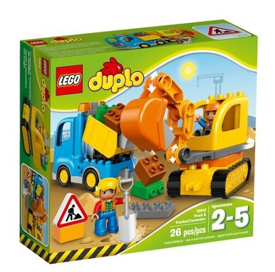 LEGO ® DUPLO ® Truck and Tracked Excavator   -