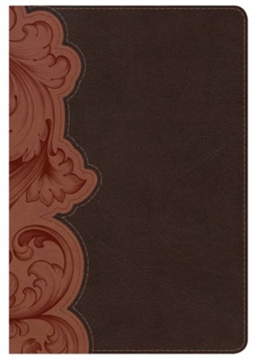 KJV Personal Size Study Bible, Dark Umber and Sienna LeatherTouch, Thumb-Indexed  -