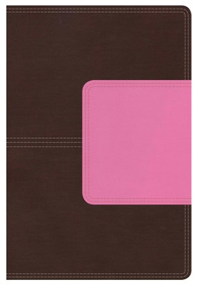 NKJV Giant Print Reference Bible, Brown and Pink LeatherTouch with Magnetic Flap  -