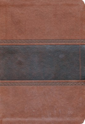 NKJV Super Giant Print Reference Bible, Brown and Chocolate LeatherTouch  -