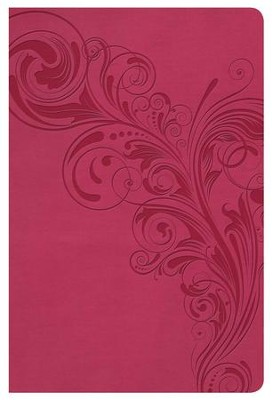 NKJV Super Giant Print Reference Bible, Pink LeatherTouch  -