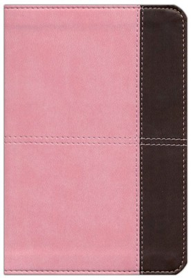 KJV Compact Ultrathin Bible, Pink and Brown Leathertouch  -