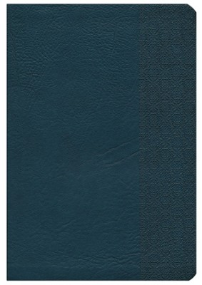 NKJV Large Print UltraThin Reference Bible, Slate Blue LeatherTouch, Thumb-Indexed  -