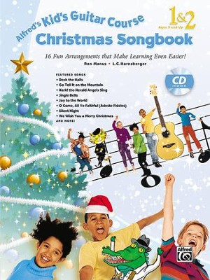 Kids Guitar Course Christmas Songs 1&2 / Book & CD  -     By: Ron Manus