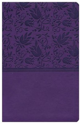 NKJV UltraThin Reference Bible, Purple LeatherTouch, Thumb-Indexed  -