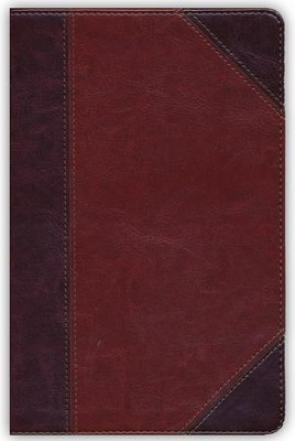 NKJV UltraThin Reference Bible, Classic Mahogany LeatherTouch, Thumb-Indexed  -