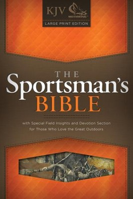 KJV Sportsman's Large-Print Bible--mothwing camouflage  -