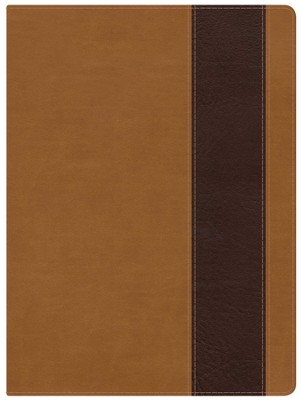 Holman Study Bible: NKJV Edition, Suede & Chocolate LeatherTouch, Thumb-Indexed  -