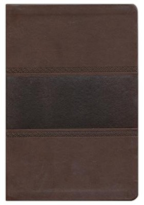 KJV Large Print UltraThin Reference Bible, Brown and Chocolate Imitation Leather  -