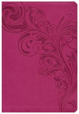HCSB Super Giant Print Reference Bible, Pink LeatherTouch, Thumb-Indexed  -