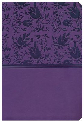 HCSB Super Giant Print Reference Bible, Purple LeatherTouch, Thumb-Indexed  -
