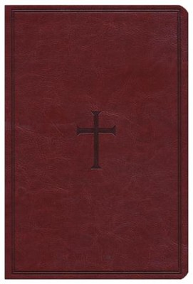 HCSB Giant Print Reference Bible, Brown LeatherTouch, Thumb-Indexed  -