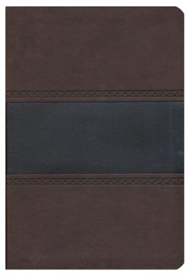 HCSB Giant Print Reference Bible, Brown and Chocolate LeatherTouch, Thumb-Indexed  -