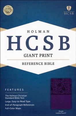 HCSB Giant Print Reference Bible, Purple LeatherTouch  -
