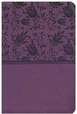HCSB Giant Print Reference Bible, Purple LeatherTouch, Thumb-Indexed  -