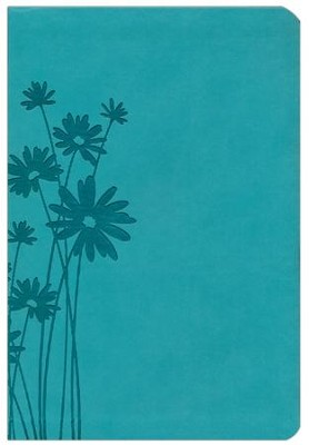 HCSB Giant Print Reference Bible, Teal LeatherTouch, Thumb-Indexed  -