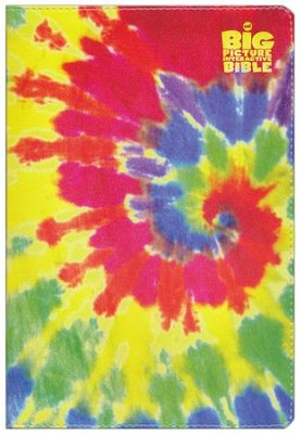 HCSB The Big Picture Interactive Bible for Kids Multicolor Tie-Dye LeatherTouch  -     By: Heath McPherson
