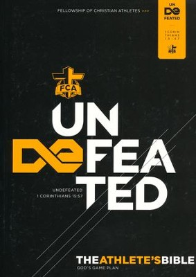 Undefeated: HCSB FCA Athlete's Devotional Bible, softcover  -     By: Fellowship of Christian Athletes
