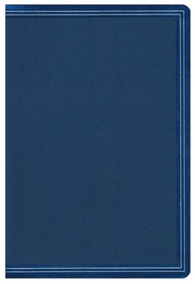 HCSB Large-Print Compact Reference Bible--soft leather-look, cobalt blue    -