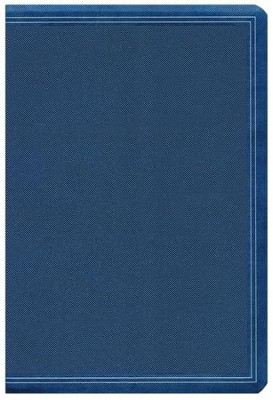 HCSB Large-Print Personal Size Bible--soft leather-look, cobalt blue  -