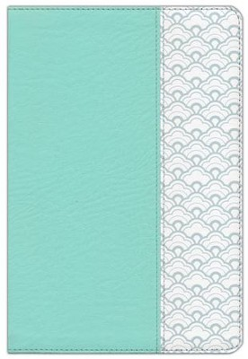 HCSB Large-Print Ultrathin Reference Bible--soft leather-look, mint green (indexed)  -