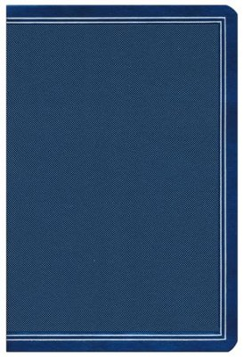 HCSB Large-Print Ultrathin Reference Bible--soft leather-look, cobalt blue (indexed)  -