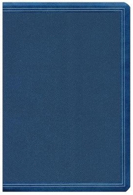 HCSB Super Giant-Print Reference Bible--soft leather-look, cobalt blue  -