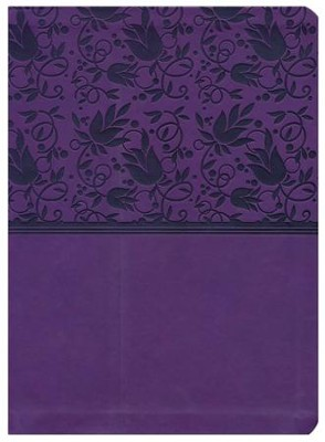NKJV Holman Study Bible--soft leather-look, purple (indexed)  -