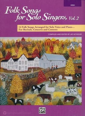 Folk Songs for Solo Singers 2-High Voice / Book  -     By: Jay Althouse