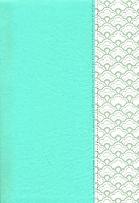 KJV Super Giant-Print Reference Bible--soft leather-look, mint green (indexed)  -