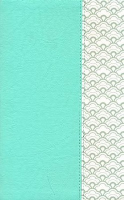 KJV Ultrathin Reference Bible--soft leather-look, mint green  -