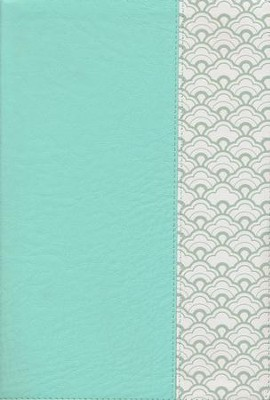 NKJV Giant-Print Reference Bible--soft leather-look, mint green (indexed)  -