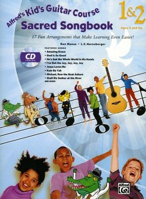 Kids Guitar Course 1&2 Sacred Songbook / Book & CD  -     By: Ron Manus
