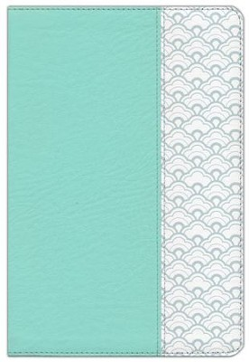 HCSB Large-Print Ultrathin Reference Bible--soft leather-look, mint green  -