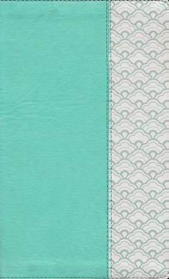 HCSB Ultrathin Reference Bible--soft leather-look, mint green (indexed)  -