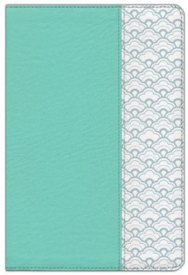 HCSB Giant Print Reference Bible--soft leather-look, mint green (indexed)  -