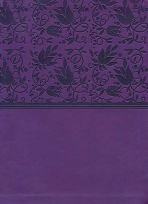 HCSB Study Bible--soft leather-look, purple  -
