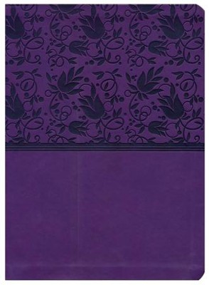 HCSB Study Bible--soft leather-look, purple (indexed)  -