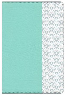 HCSB Super Giant-Print Reference Bible--soft leather-look, mint green (indexed)  -