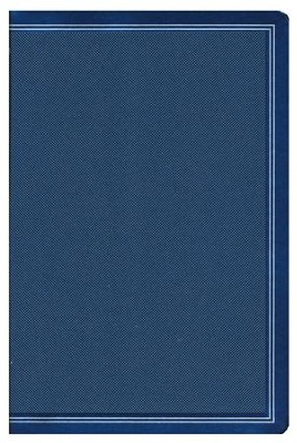 NKJV Ultrathin Reference Bible--soft leather-look, cobalt blue  -