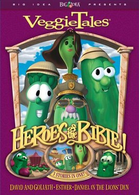 Heroes of the Bible: David & Goliath, Esther, and  Daniel in the Lions' Den, VeggieTales DVD  -