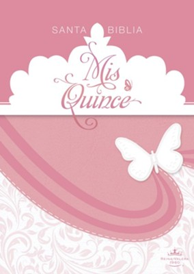 RVR 1960 Biblia Mis Quince, rosa y blanco simil piel (RVR 1960 Mis Quince Bible, Pink and White LeatherTouch)  -