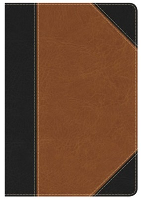Holman Study Bible: NKJV Edition Personal Size Black/Tan LeatherTouch Indexed, Leather, imitation  -