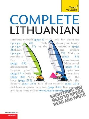 Complete Lithuanian: Teach Yourself / Digital original - eBook  -