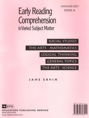 Early Reading Comp. in Varied Subject Matter Answer Key Book A   -     By: Jane Ervin