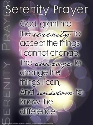 Serenity Prayer Laminated Wall Chart  -