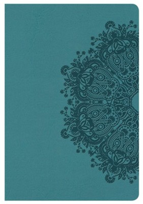 KJV Compact Ultrathin Bible, Teal LeatherTouch  -