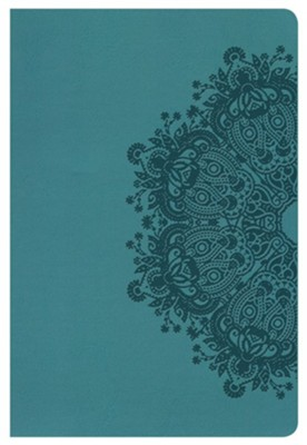 KJV Large Print Personal Size Reference Bible, Teal LeatherTouch  -