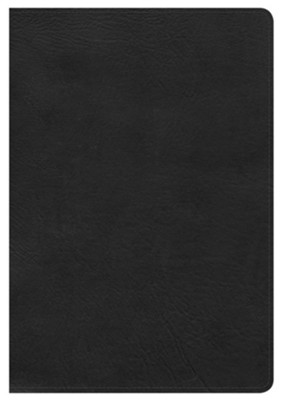KJV Large Print Ultrathin Reference Bible, Black LeatherTouch  -
