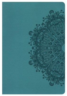KJV Large Print Ultrathin Reference Bible, Teal LeatherTouch  -